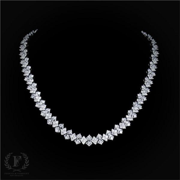 18 0 Carat Estate Diamond Necklace