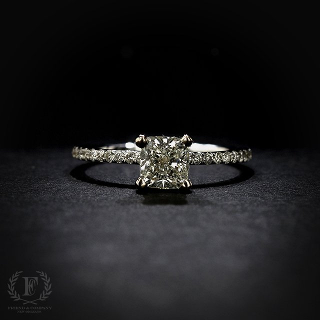 Gia Cushion Cut Diamond Engagement Ring Friend And Company Fine Jewelers